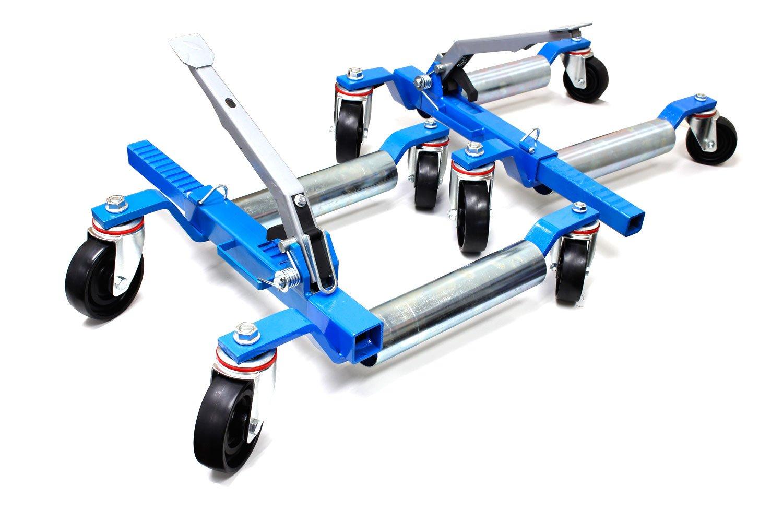 新モデル カードーリー ホイールドーリー ゴージャッキ 左右2台セット タイヤドーリー 手動式 機械式