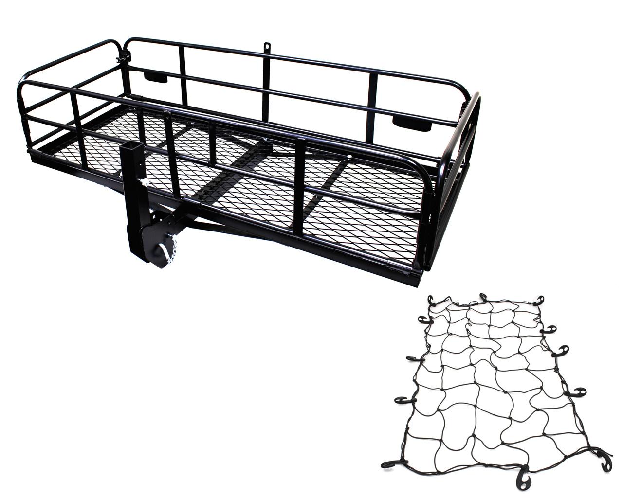 折り畳み式 カーゴネット付き ケージ付きヒッチキャリアカーゴ C04