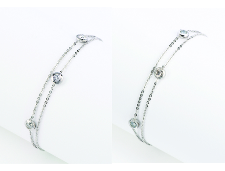 【Shine PLATINUMブレスレット】Pt850/Pt900 プラチナ 白金 ダイヤモンド オリジナルカット  プレゼント ギフト あす楽 徳力