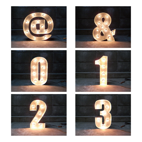 SIGN WITH LIGHT 「@ & 1~3」 【1点】sepz『FS』_mdrjs