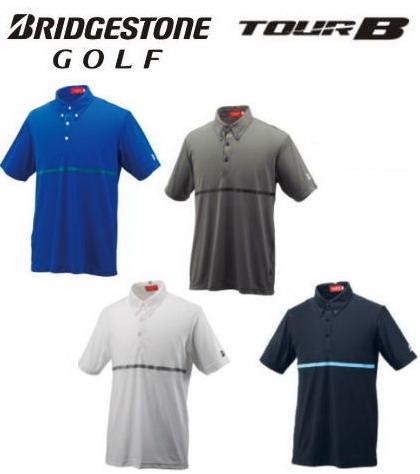 【オウンネームが刺繍で入る】ブリヂストン ゴルフ/BRIDGESTONE GOLF 半袖ボタンダウンシャツ FGM10A