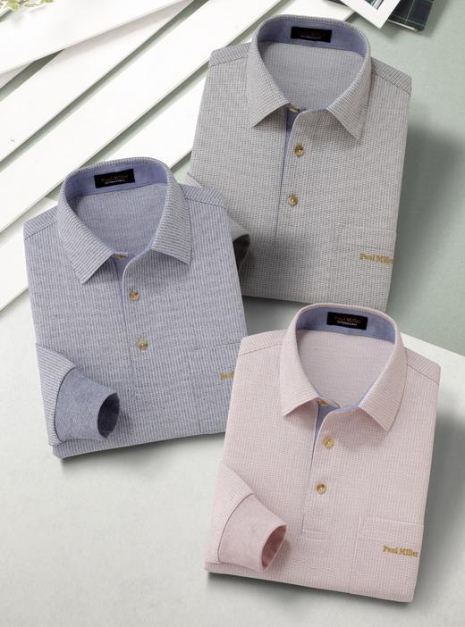 Paul Miller/ポールミラー 長袖ニットシャツ2色組 377-0345