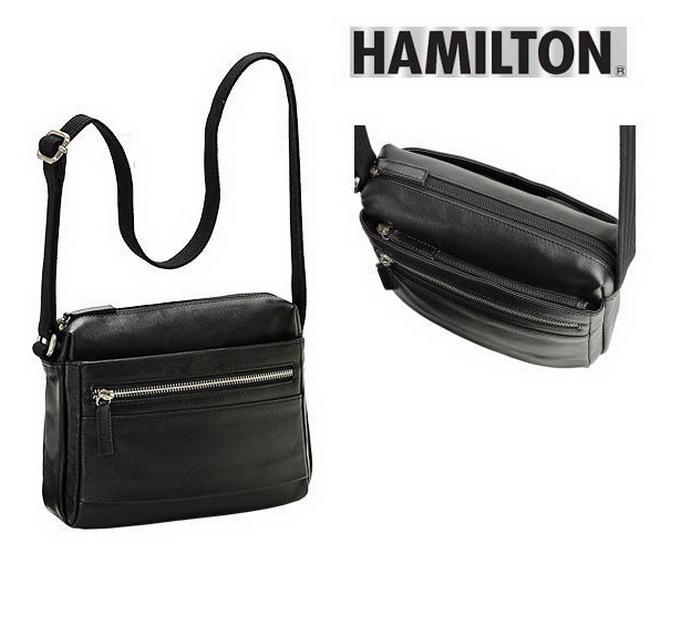 HAMILTON/ハミルトン 本革 牛革 レザー メンズバッグ メンズ ショルダーバッグ 角型 24cm 【平野鞄】16394