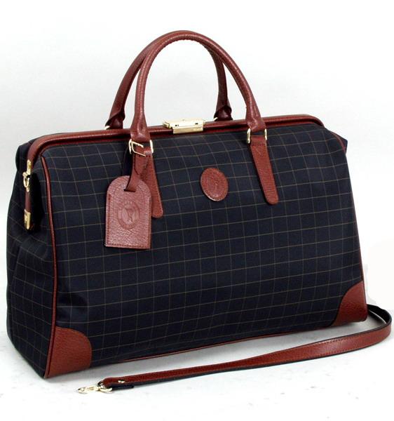 CACCIATOPE/カチャトーレ チェックボストンバッグ 旅行かばん 45cm 11933 【平野鞄】