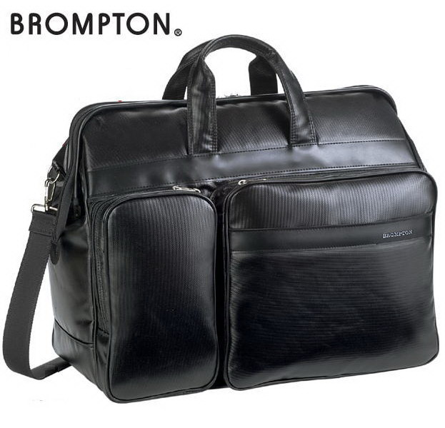 BROMPTON/ブロンプトン ポリカーボネイト チャックダレス式ボストンバッグ  宿泊・出張用 45×36×19cm 【平野鞄 】31127