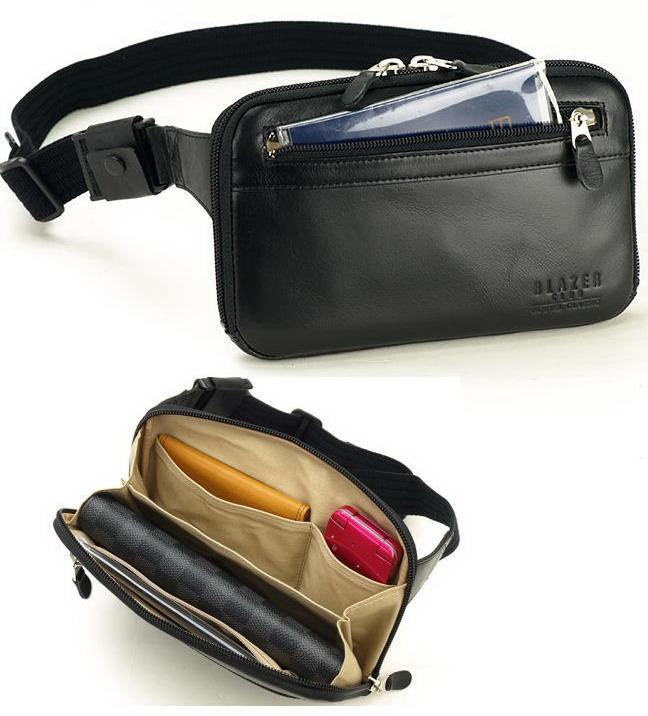 BLAZERCLUB/ブレザークラブ 本革 レザー ウエストポーチ ウエストバッグ メンズ 薄マチ ボディーバッグ【平野鞄】25780