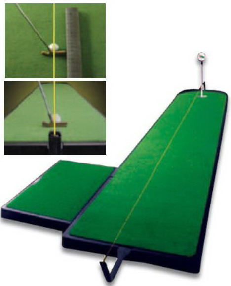 【ゴルフ練習用具】【ゴルフ練習用具】ツアーリンクス パッティング グリーン トレーニングエイド9フィート(2.7m) TA-5PP Z-124