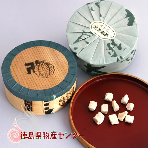 和三盆《霰三盆》曲物入 100g/干菓子/砂糖/お茶請け/徳島名産