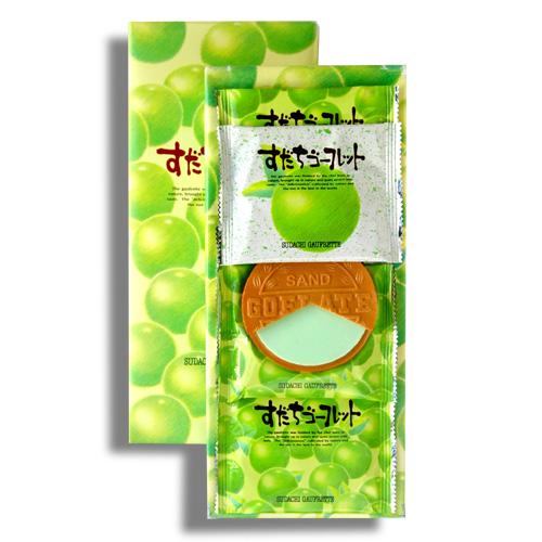 すだちゴーフレット 10枚入 今だけスーパーセール限定 全店販売中 徳島限定のお土産菓子