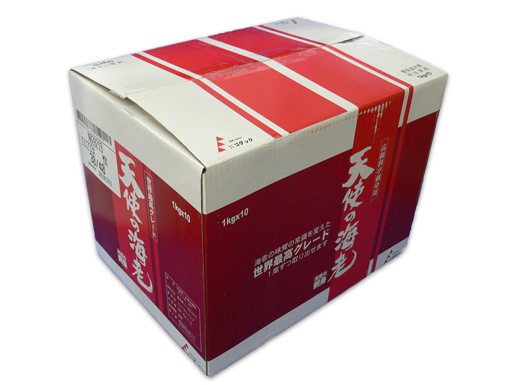 天使の海老 小サイズ1Kg箱 規格:40 高品質 50 永遠の定番 を10箱まとめ買い