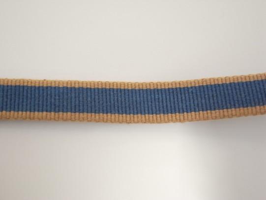 真田紐 メーカー公式 綿綿ヌキ袋 茶 紺 50cm単位切り売り 1巻き 30m 巾約12mm マーケット