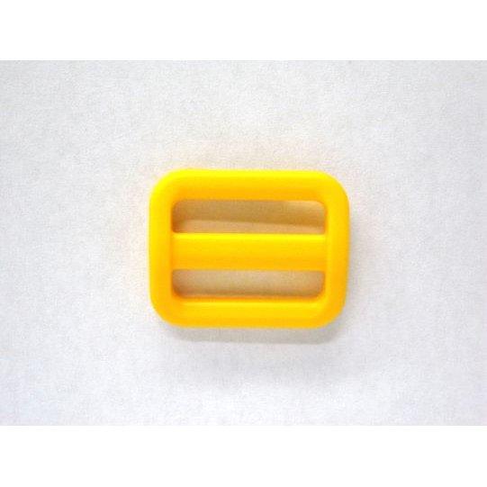 YKK LA20S 豪華な テレビで話題 プラスチック アジャスター 20mm巾用 ベルトの長さ調節などに 黄