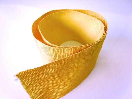 期間限定の激安セール ケブラーテープ 50mm巾 お試しサンプル10cmカット 防弾チョッキ等にも使用されている最強の繊維です セール商品 引張強度約12.70kN スーパーアラミド繊維製