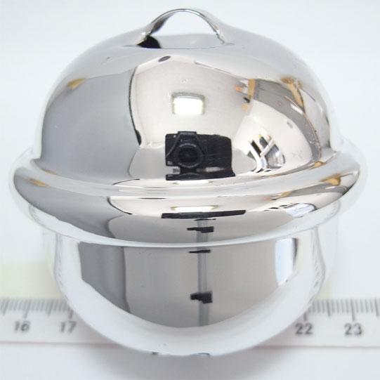 福鈴 2寸2分切カン 爆買い新作 約幅56mm×高さ53mm シルバー 携帯ストラップ 和鈴 キーホルダー等に 代引き不可