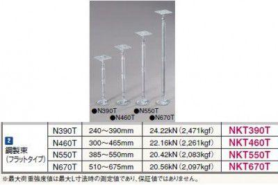 20個入 NKT460T 鋼製束(フラットタイプ)N460T 300~465mm フクビ化学工業 【代引不可】