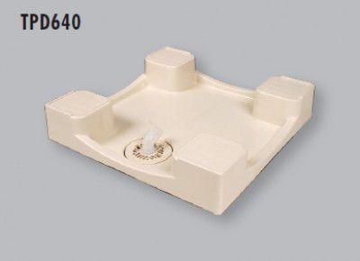 テクノテック TPD640 ドラム式洗濯機 防水 パン 透明排水トラップ付 【代引不可】