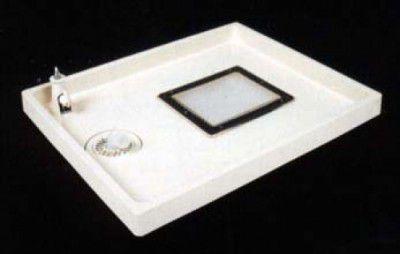 テクノテック TSC-800 給水栓付 点検口付 洗濯機 防水 パン 透明排水トラップ付 【代引不可】