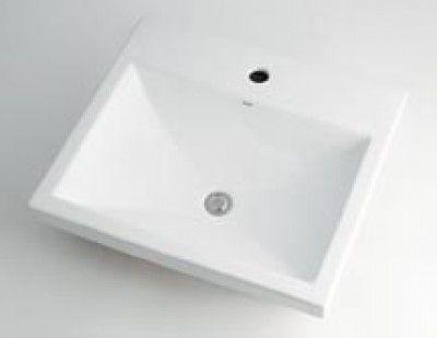 カクダイ 493-003 角型洗面器1ホール【代引不可】