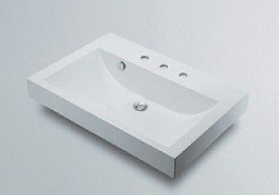 カクダイ 493-071-750 角型洗面器3ホール【代引不可】