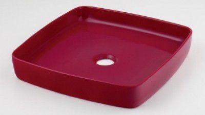 カクダイ 493-096-R 角型手洗器 ラズベリー MINO(ミーノ) 【代引不可】