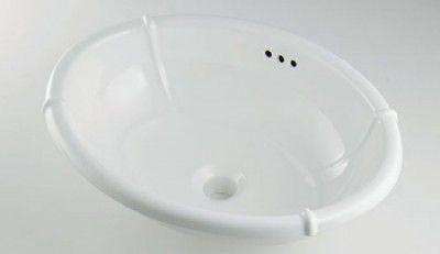 カクダイ LY-493209 丸型洗面器【代引不可】