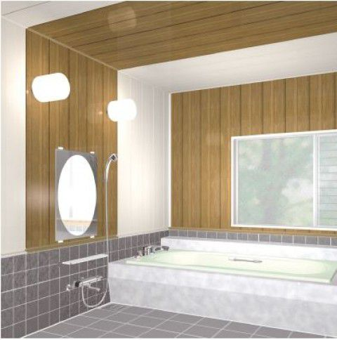 12枚入 BT3Z 浴室用天井・壁装材 バスパネルBTj 3m フクビ化学工業 代引不可