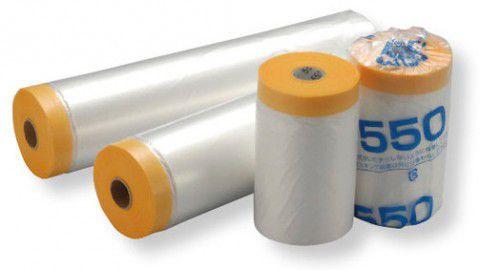 エムエフ 和紙テープ付き養生マスカー 60巻 550mmx30m 【代引不可】
