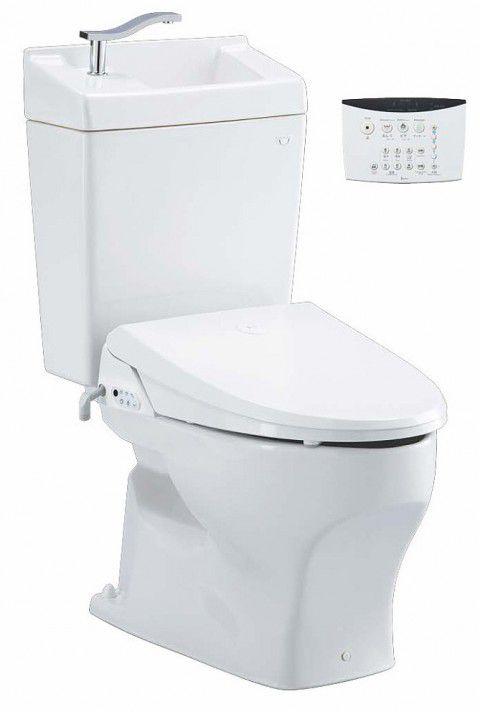 ジャニス工業 ココクリンIII 壁用 便座(普通便座)・手洗無しタンク付 【SC8050-PGB+NC822W-1】