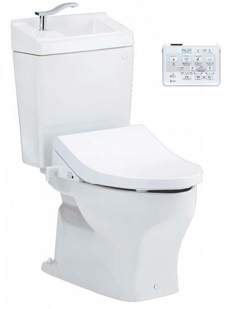 新品入荷 住宅資材館 【SC8050-SGB+JCS-590DRN】:得する 便座(サワレット590)・手洗いタンク付 床排水用 ココクリンIII ジャニス工業-木材・建築資材・設備