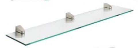 内外 CROW 透明ガラス壁掛けシェルフ 1100×180×8mm 棚板付き CR-SG002-NT