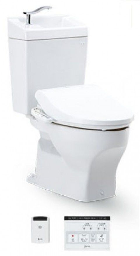 ジャニス工業 ココクリンIIIα 床排水用 専用便座・手洗い無しタンク付 【SC8051-SGB-1】