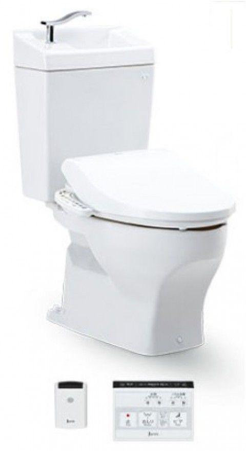 ジャニス工業 ココクリンIIIα 床排水用 専用便座・手洗いタンク付 【SC8051-SGB】