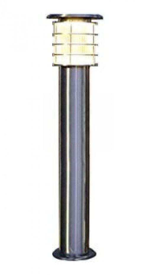 システック ソーラーポールライト 100cmモデル 本体シルバー ライトカバークリア 電球色 SPL-10-OR-CL