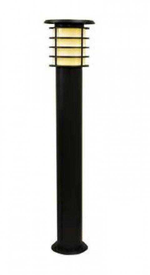 システック ソーラーポールライト 100cmモデル 本体ブラック 電球色 SPL-10-ORB