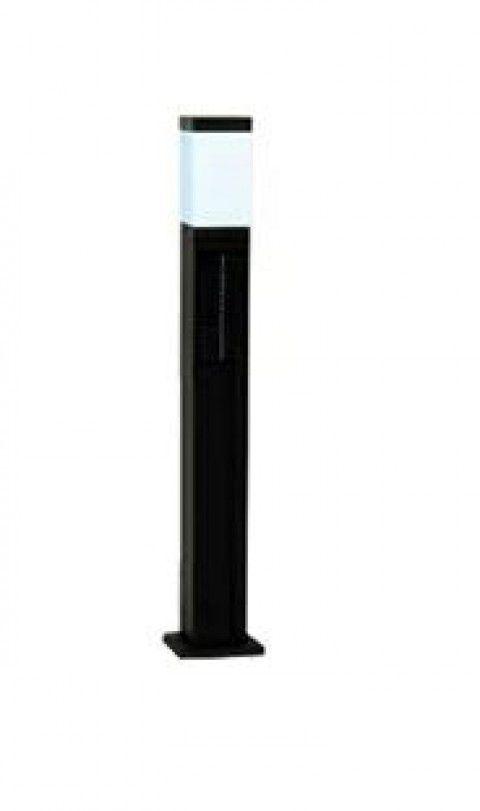 システック ソーラーポールライト スリム80cmタイプ 本体ブラック 白色 SPL-SLH-WHB
