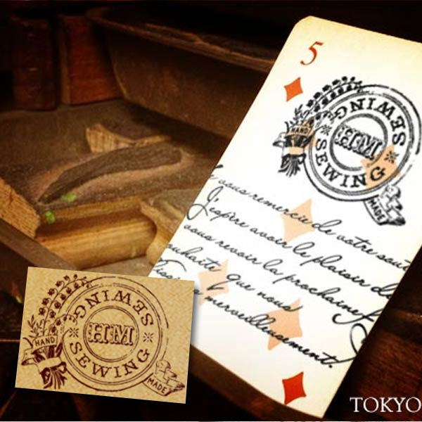 大人のスタンプ 通常便なら送料無料 激安 東京アンティーク スタンプ ソーイング はんこ メール便OK ボタン手芸