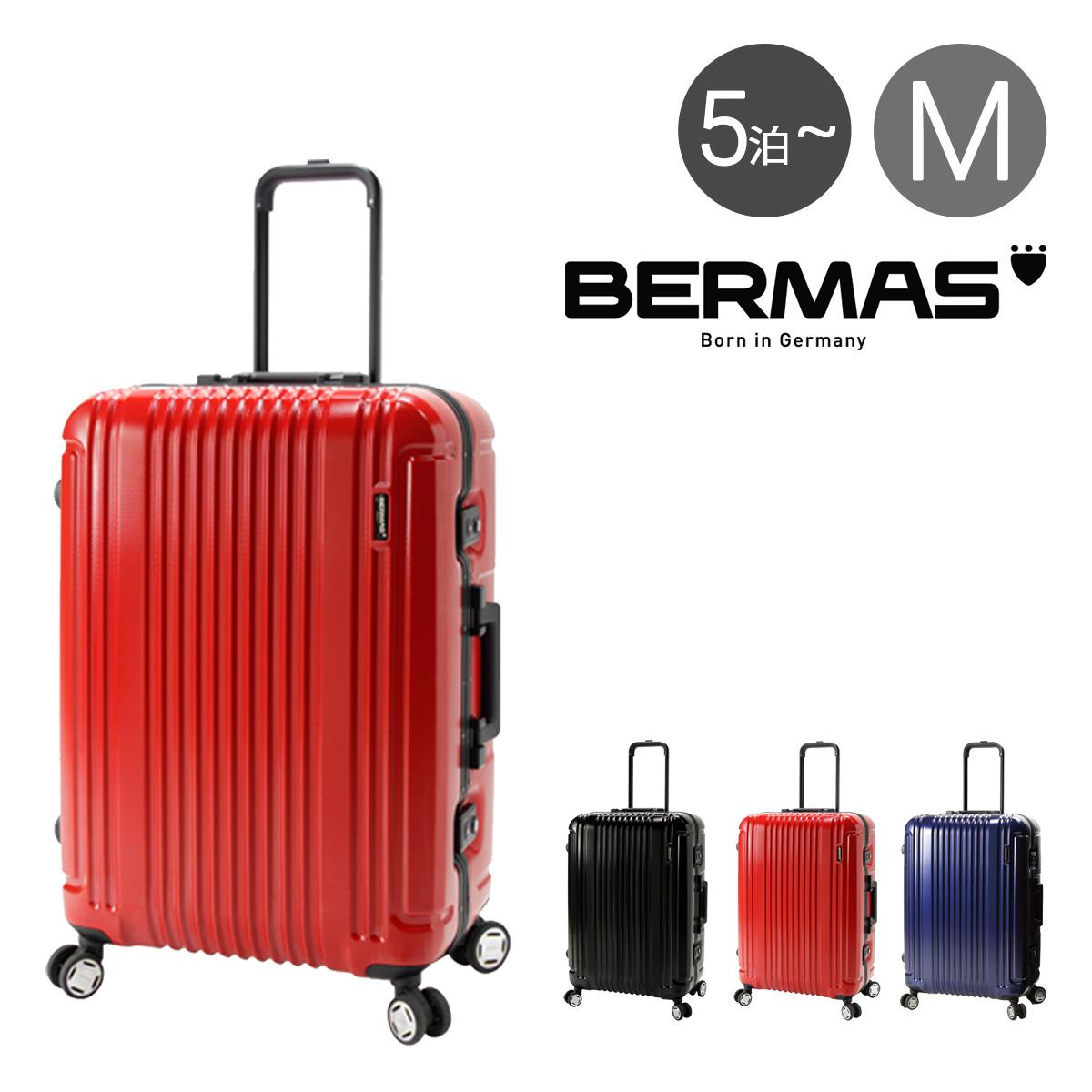 バーマス スーツケース 66L 62cm 4.7kg ハード フレーム プレステージIII メンズ レディース 60281 BERMAS | キャリーケース TSAロック搭載 HINOMOTO