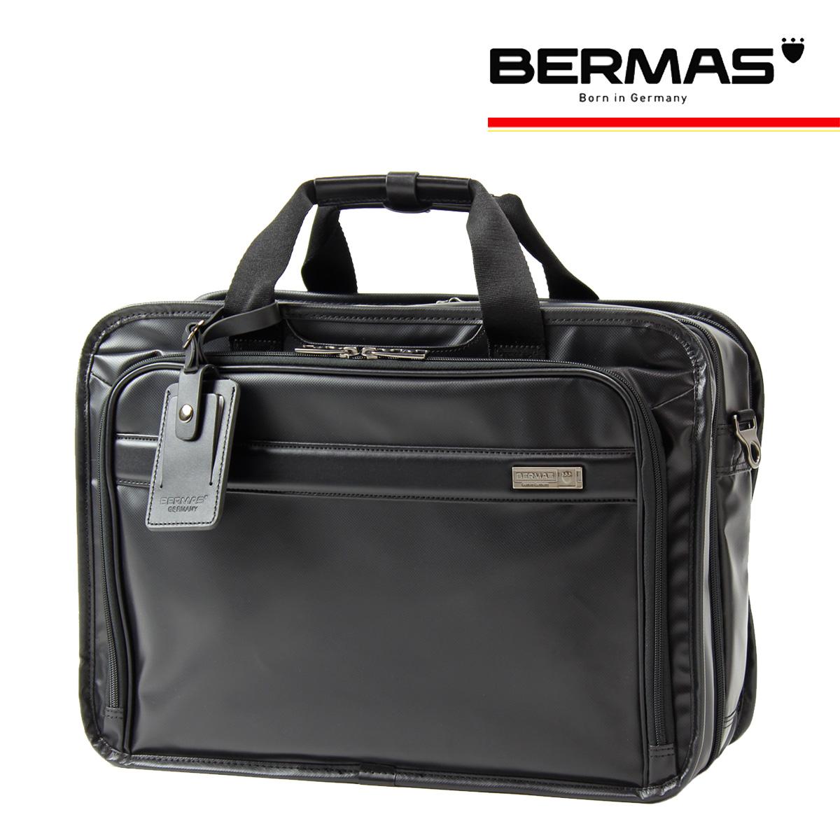 バーマス ブリーフケース 2WAY インターシティ メンズ 60461 BERMAS ビジネスバッグ 撥水 防汚 キャリーオン Lサイズ