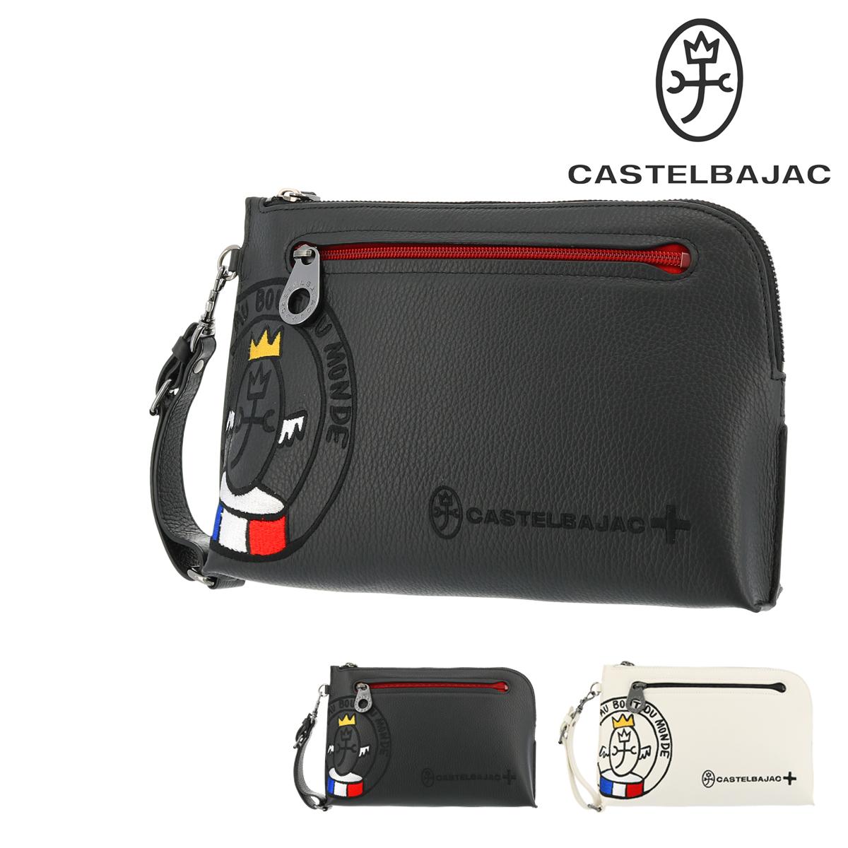 カステルバジャック セカンドバッグ リンク メンズ 30211 CASTELBAJAC | 持ち手 クラッチバッグ 軽量 牛革 本革 レザー