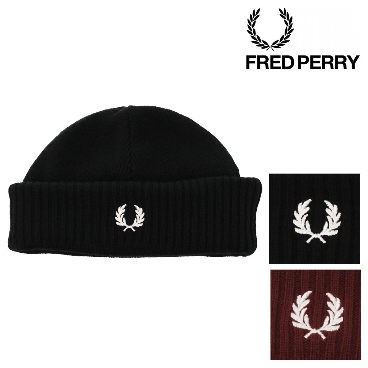 フレッドペリー ニット帽 ロールアップビーニー メンズ レディース C7142 FRED PERRY | 帽子 ビーニー ニットキャップ[即日発送]