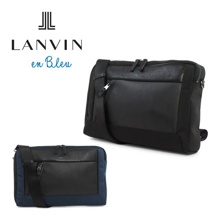 ランバンオンブルー LANVIN en Bleu ショルダーバッグ 588101 モンペリエ 【 メンズ 】【 ボディバッグ 2way クラッチバッグ 】【 B5サイズ 】[bef]