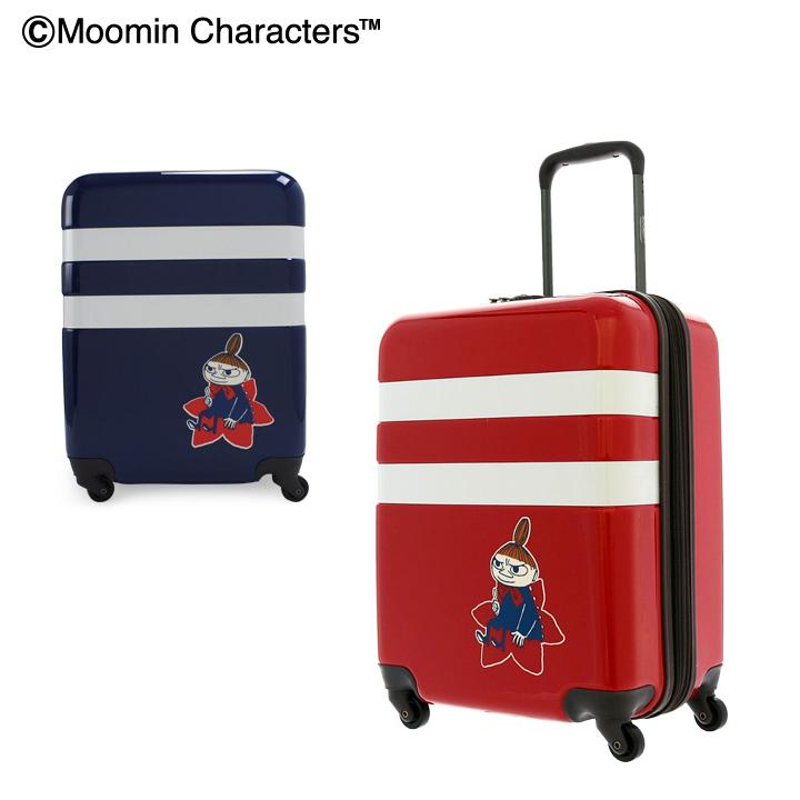 ムーミン ミイ スーツケース キャラクター 34L/40L 47cm 3.0kg ハード ファスナー MM2-011 キャリーケース 拡張 TSAロック搭載[bef][即日発送]
