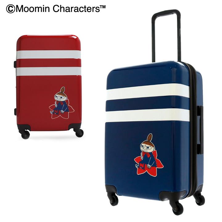 ムーミン ミイ スーツケース キャラクター 49L/57L 56cm 3.9kg ハード ファスナー MM2-012 キャリーケース 拡張 TSAロック搭載[bef][即日発送]
