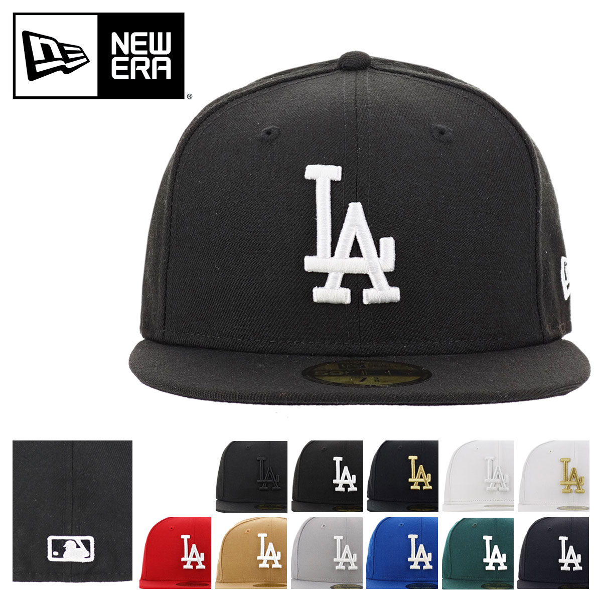 New Era 59Fifty Hat MLB Los Angeles Dodgers Mens Light Gray 5950 Fitted Cap