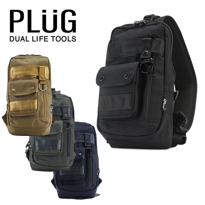 プラグ PLUG ボディーバッグ PLG-105 斜めがけ ワンショルダー メッセンジャーバッグ メンズ [bef][PO5][即日発送]