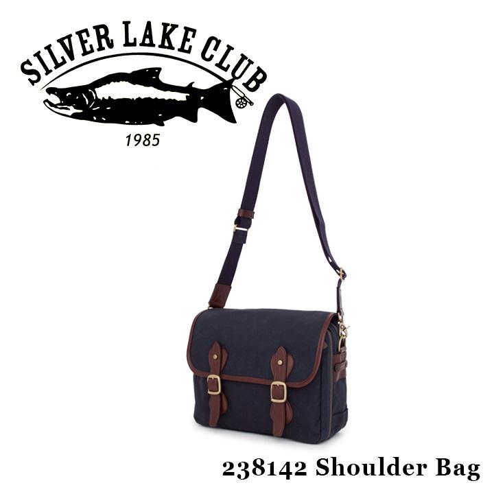 シルバーレイククラブ SILVER LAKE CLUB ショルダーバッグ 238142 9号帆布ネイビー 【 メンズ 撥水】[bef]