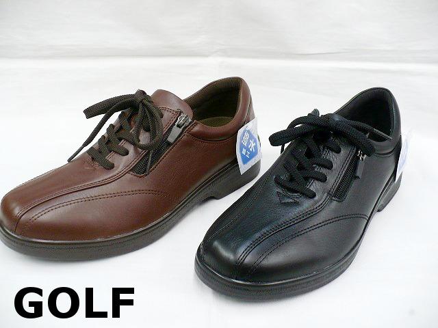 GOLF ゴルフ 406 メンズ レザー カジュアルシューズ ビジネスシューズ ウォーキングシューズ 撥水加工