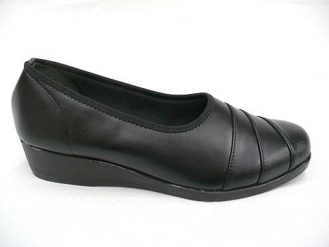 SUNGENOVA太阳热那亚2036女子的休闲的女用浅口无扣无带皮鞋楔子鞋底3.5cm鞋跟