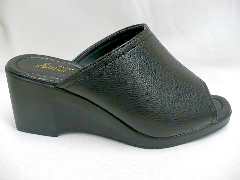 Tokyo Do Ladies Wedge Mules Shoes Puar 514 Black Rakuten Global