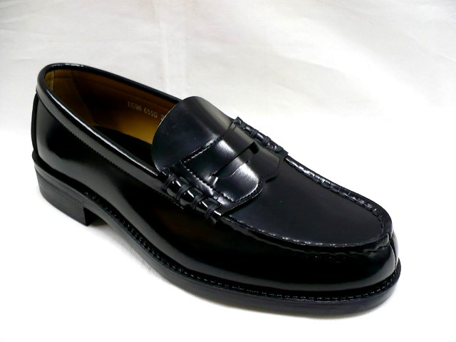 601c5988a6b1 6550 HARUTA Haruta men 合皮 penny loafers (3E) black attending school shoes  student shoes